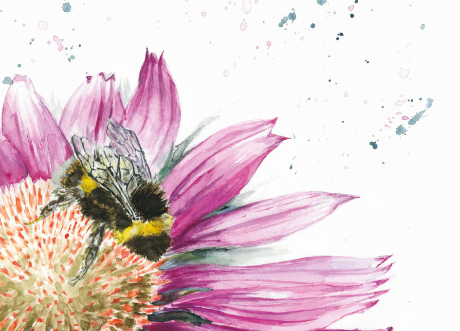 Digital art print of bumble bee