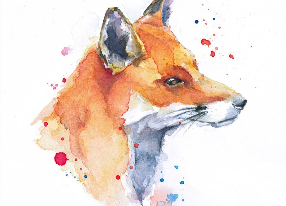 Fox print by Annie Hall